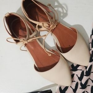 Jeffrey Campbell Tie Up Flats size 7